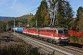 am Foto: 1142.587 + 1142.684 + 1144.119 mit DG 55052 bei Goggerwenig (Rudolfsbahn)