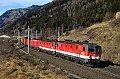 Foto zeigt: 1144.242 + 1144.248 + 1116.150, Z 91169, Sbl. Kolbnitz 1 (Tauernbahn), 28.01.2016
