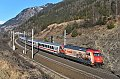 """Foto zeigt: DB 101.064 """"160 Jahre Märklin"""" mit EuroCity 114 bei Kolbnitz (Tauernbahn)"""