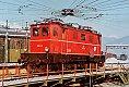 am Foto: ÖBB 1045.14, Typenfoto, Drehscheibe Zf. Selzthal (Ennstalbahn Winter 1982)