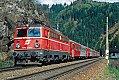 Foto zeigt: 1042.520 mit CS-Wendezug 15610 beim Block Leoben Hinterberg 1 (Rudolfsbahn 1998)
