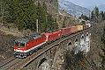 Foto zeigt: 1144.104 + 1216.005, Hundsdorfer-Viadukt (Tauernbahn)