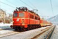 Foto zeigt: 1018.08, Personenzug, Bf Stainach-Irdning (Ennstalbahn), 20.01.1982