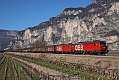 Foto zeigt: 1293.009 + 1293.030 vor Ganzzug bei Salurn (Brennerbahn - Italien), 23.03.2019
