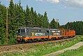 am Foto: HectorRail 142.001 & 142.110, Holzganzzug 41734, Erikslund - Ange (Schweden), 08.06.2011