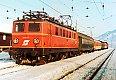 am Foto: 1041.17 mit Personenzug im Bf Stainach-Irdning (Ennstalbahn), 20.01.1982