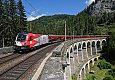 am Foto: 1116.200 - Demokratie-Lok, RJ 559 am Kalte Rinne Viadukt (Semmeringbahn)