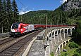 Foto zeigt: 1116.200 - Demokratie-Lok, RJ 559 am Kalte Rinne Viadukt (Semmeringbahn)