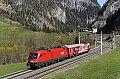 am Foto: 1116.130 mit dem Rail-Checker bei Klammstein (Tauernbahn)