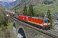 Foto zeigt: 1144.117 (Schachbrett) + 1116.147, DG 54535, Abzw. Hofgastein 1- Steinbach-Viadukt (Tauernbahn), 28.04.2021