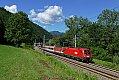 Foto zeigt: 1116.129 + 1144.223, EC 164 mit außerplanmäßiger ÖBB Garnitur, Laufnitzdorf / Frohnleiten (Südbahn), 26.06.2021
