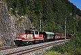 Foto zeigt: 1163.009 mit Verschubgüterzug bei Tenneck (Salzburg-Tiroler-Bahn), 20.08.2020