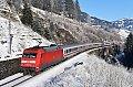 Foto zeigt: DB 101.111, EC 114, Abzw. Bad Hofgastein 1- Steinbach-Viadukt (Tauernbahn), 02.01.2020