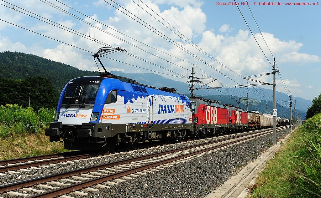 Foto zeigt: Sparda-Bank Taurus am Haller Güterzug
