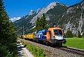 "Foto zeigt: 1116.199 ""Roco-Lok"", G 45180 (Speno) Innsbruck - Reutte, bei Scharnitz (Karwendelbahn), 26.07.2021"