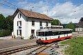 Foto zeigt: transN BDe 4/4.5 mit Regionalzug in Les Brenets (Schweiz)