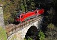 Foto zeigt: 1216.017 + 1216.011, Klammviadukt (Tauernbahn)