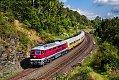 Foto zeigt: EBS 132.334 mit Städte-Express nach Neuenmarkt-Wirsbergauf der Schiefen Ebene